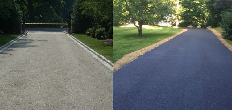 Asphalt vs Oil and Stone Driveway